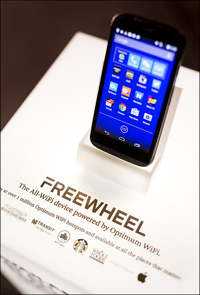 Cablevision launches its new Freewheel all-WiFi cellphone service at a reception at Gramercy Park Hotel in New York City