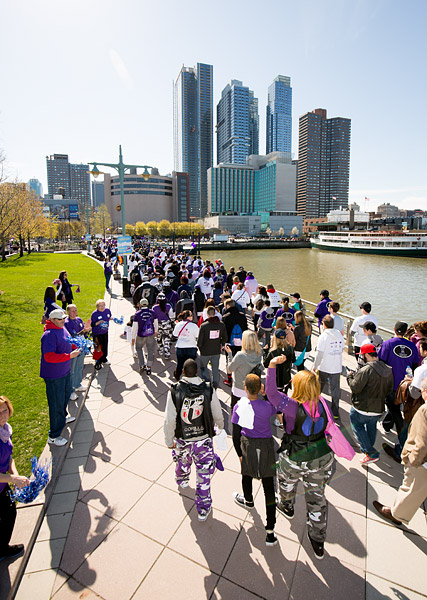 The Lustgarten Foundation's fifth annual New York City Pancreatic Cancer Research Walk, which raised over $400,000 to fight the deadly disease.
