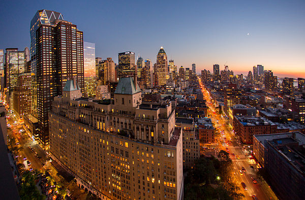 Manhattan at dusk