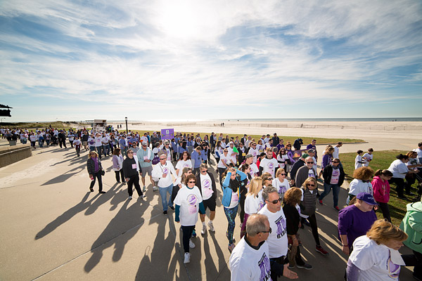 More than 8,000 people participate in the 15th Annual Lustgarten Foundation Long Island Pancreatic Cancer Research Walk at Jones Beach, raising over $1 million to fight the deadly disease